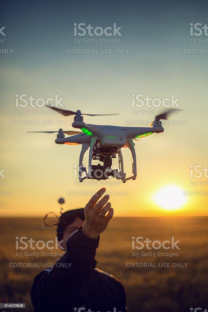 Varna, Bulgaria - June 23 ,2015: Drone quadcopter Dji Phantom stock photo
