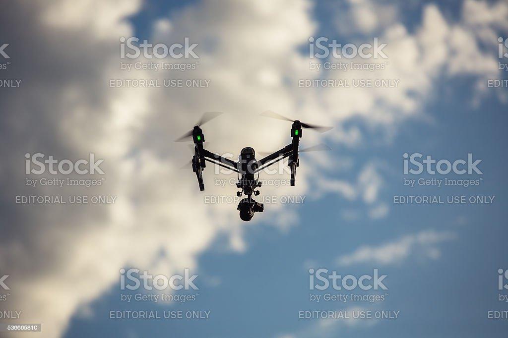 Varna, Bulgaria - May 13 ,2016:DJI Inspire 1 Pro drone stock photo