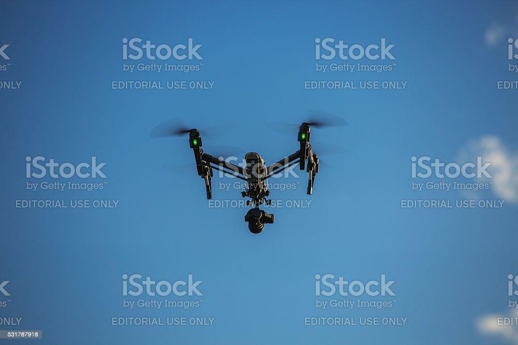Varna, Bulgaria - May 13,2016: DJI Inspire Pro drone stock photo