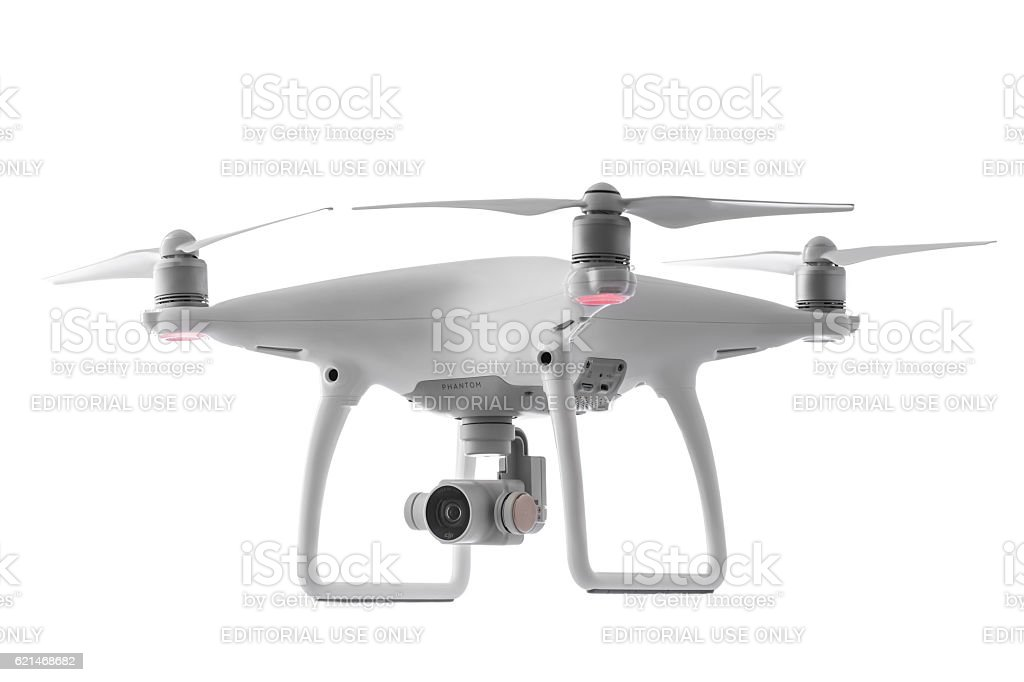 Varna,Bulgaria - October 17,2016: Drone quadcopter Dji Phantom stock photo
