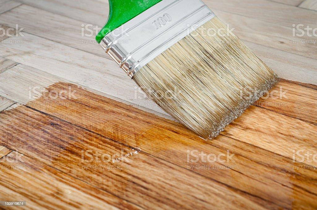 Varnish brush royalty-free stock photo