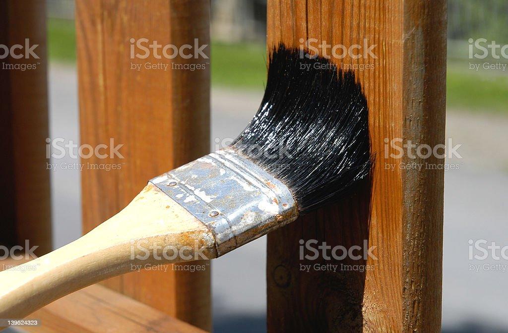 varnish the fence 2 stock photo