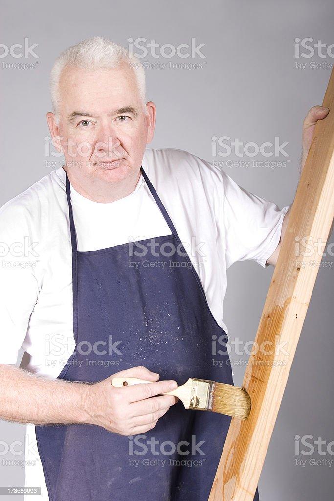 Varnishing wood royalty-free stock photo