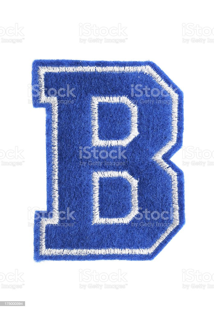 Varsity college letter B royalty-free stock photo
