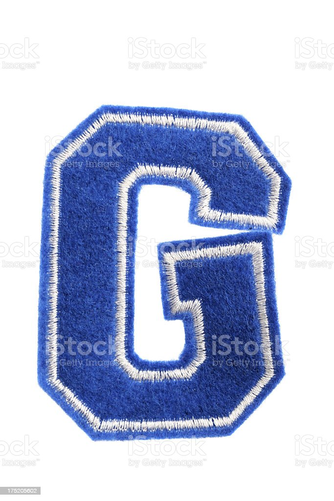 Varsity college letter G royalty-free stock photo