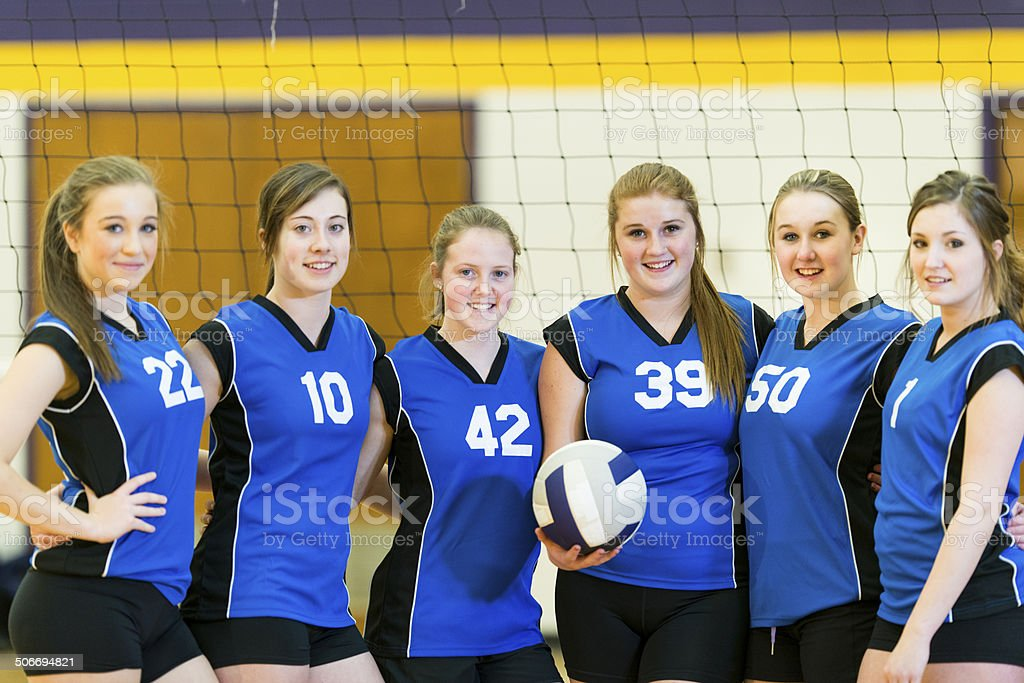Varsity Volleyball royalty-free stock photo