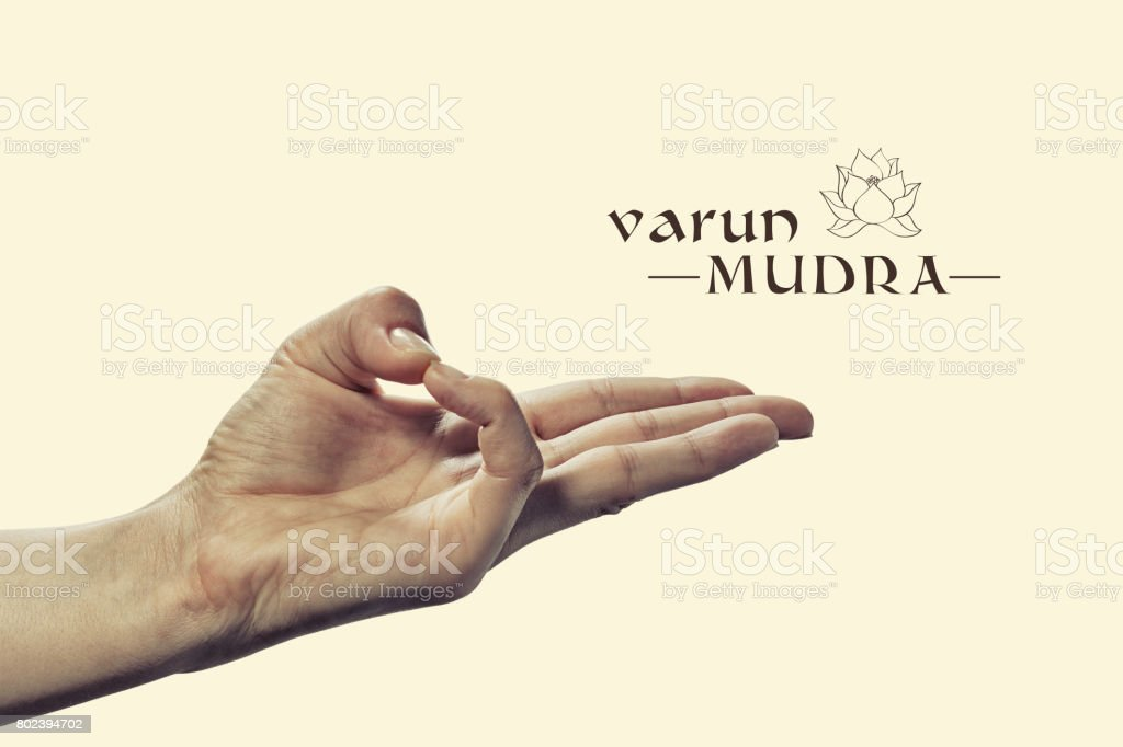 Varun mudra. stock photo