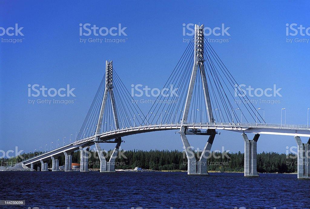 Vasa archipelago modern bridge royalty-free stock photo