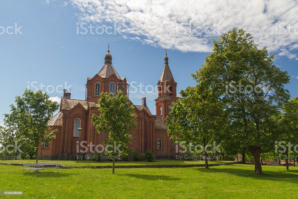 Vasa,Finland - ortodox church stock photo