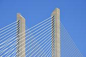 Vasco da Gama bridge and sky, Lisbon, Portugal