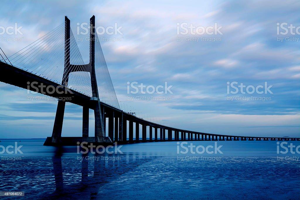 Vasco da Gama Bridge, Lisbon, Portugal stock photo