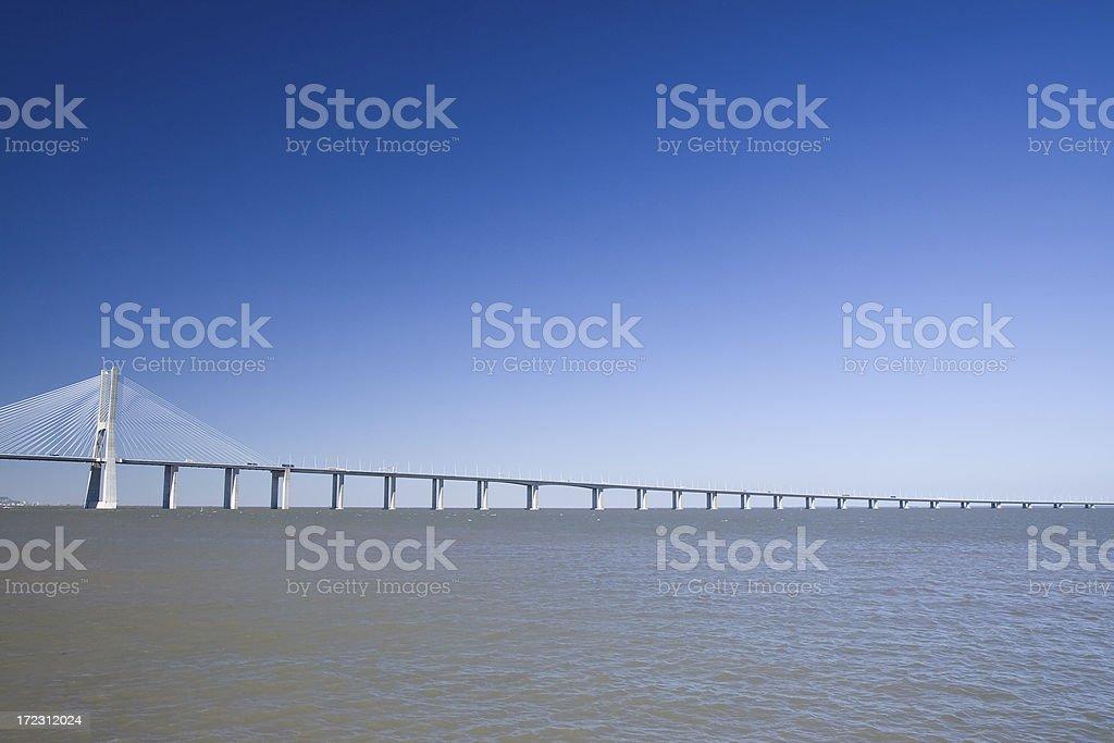 Vasco da Gama Bridge royalty-free stock photo