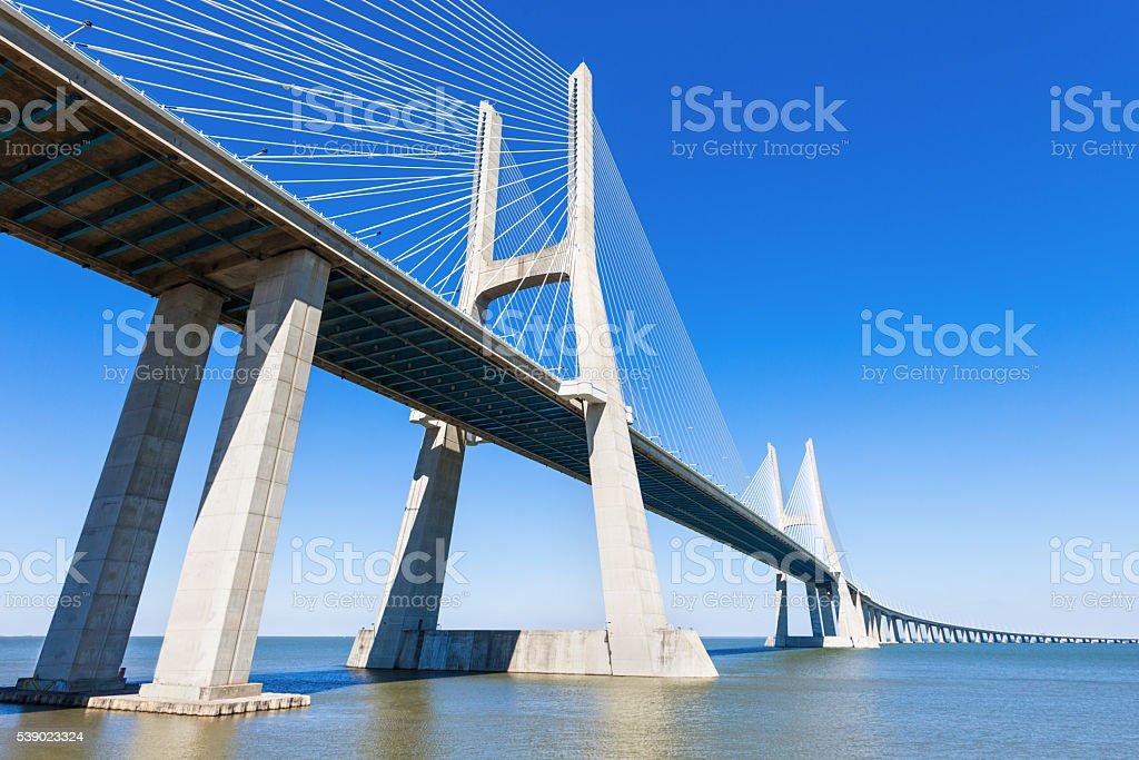 Vasco da Gama Bridge stock photo