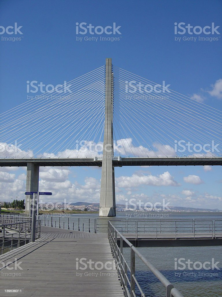 Vasco da Gama Bridge1 royalty-free stock photo