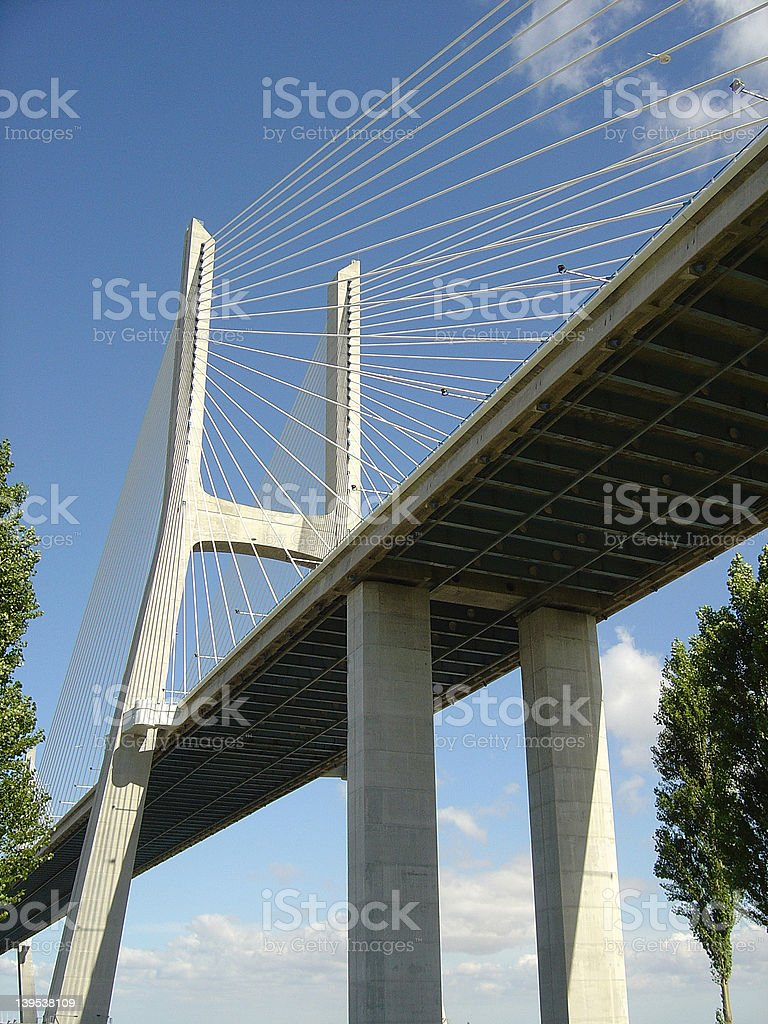 Vasco da Gama Bridge10 royalty-free stock photo