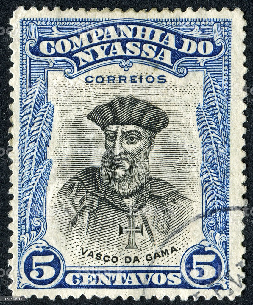 Vasco Da Gama Stamp stock photo