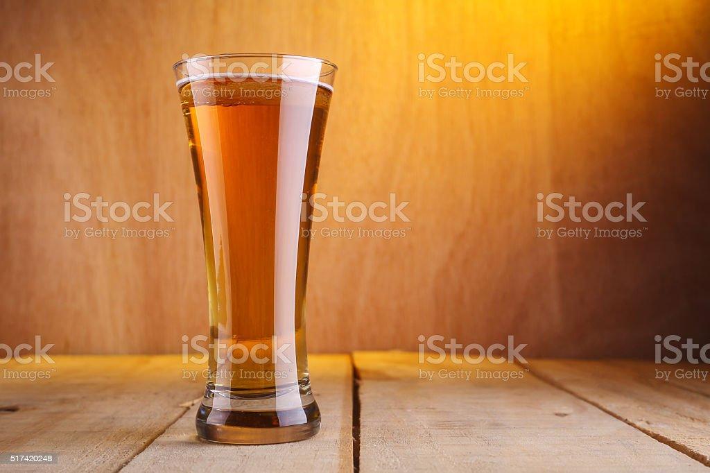 Vase beer glass stock photo