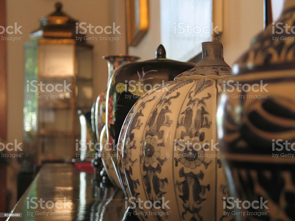 Vase Lineup royalty-free stock photo