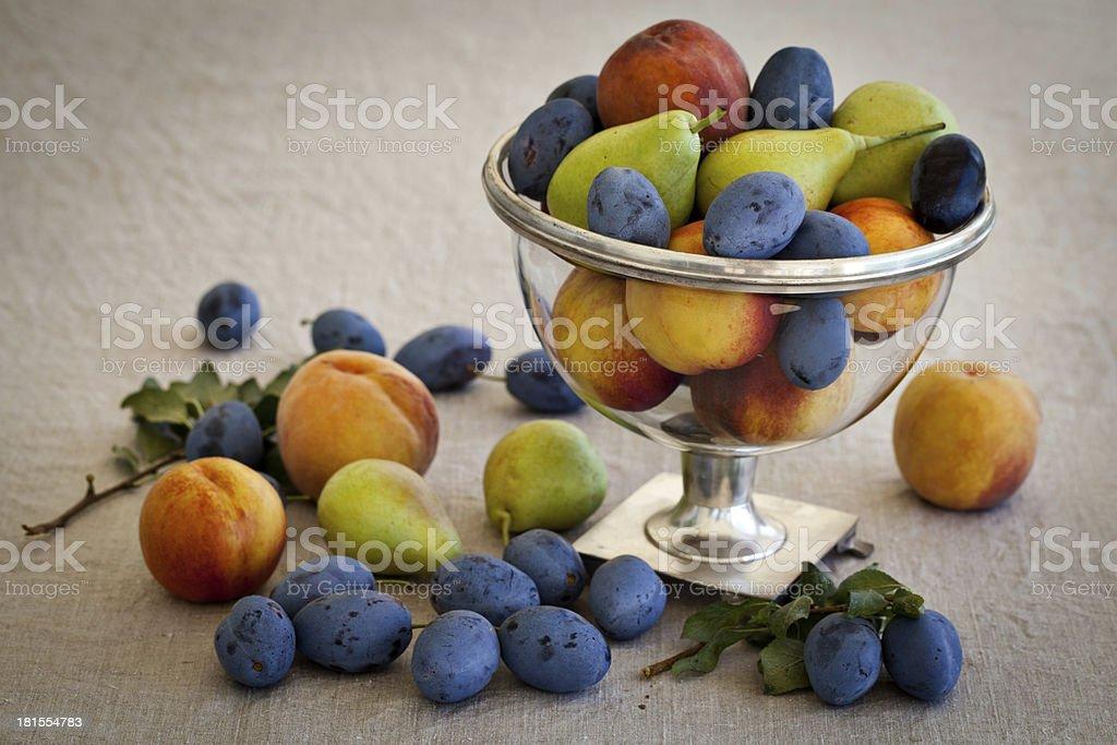 Vase of fruits royalty-free stock photo