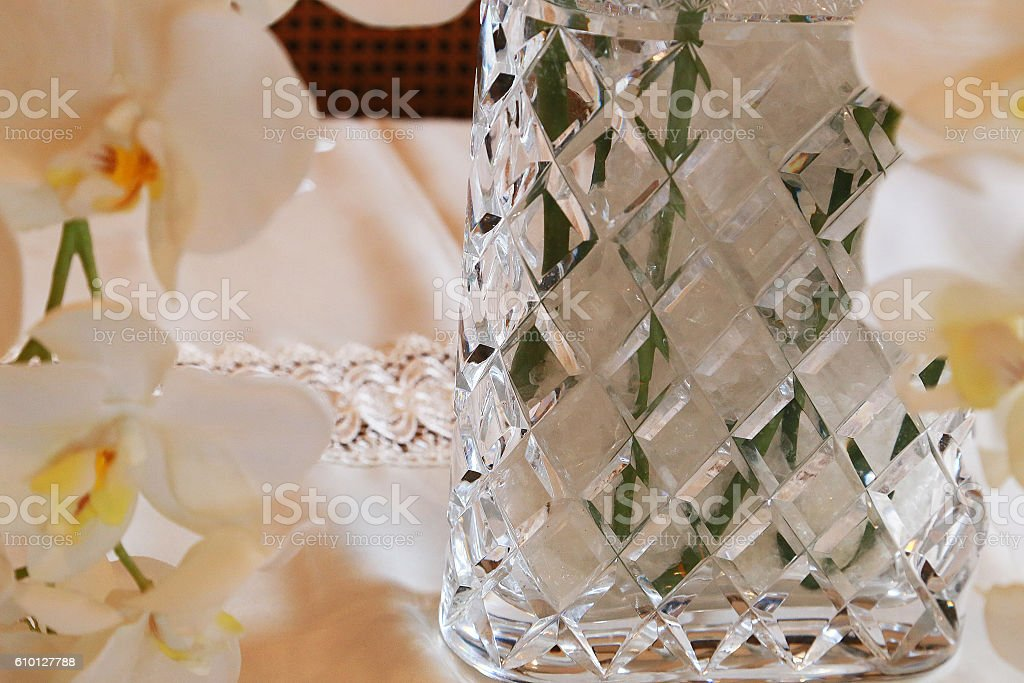Vase of the glass foto de stock libre de derechos