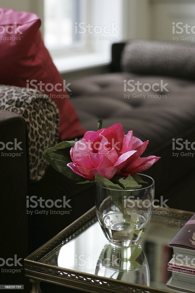 Vase on the side table royalty-free stock photo