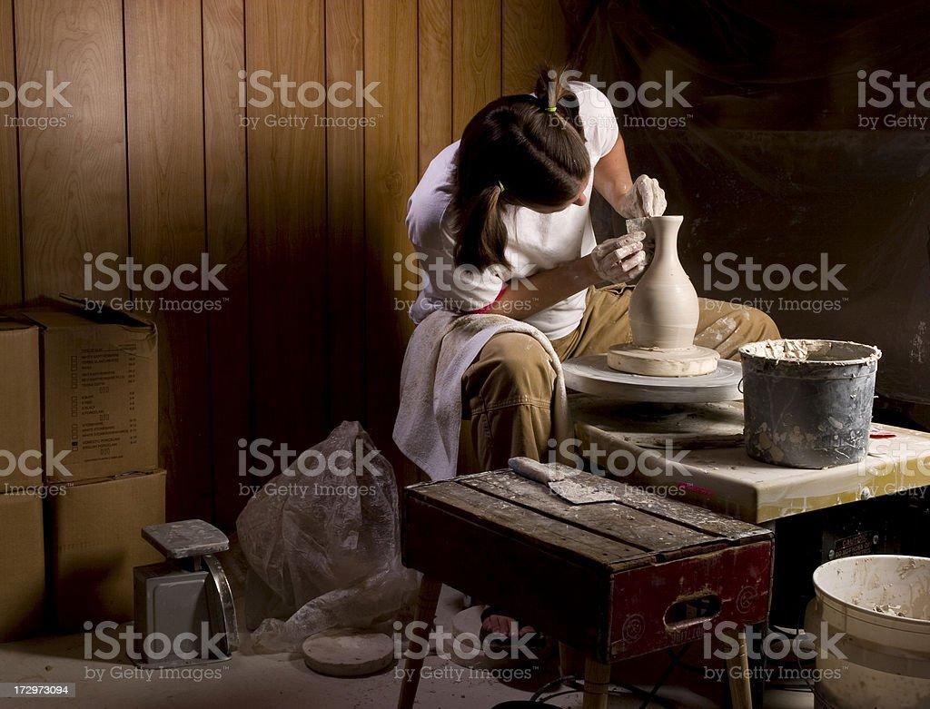 Vase Trowing royalty-free stock photo
