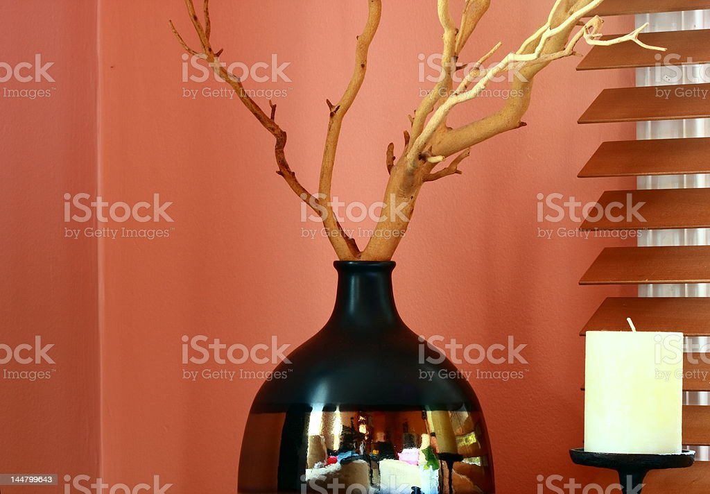 vase with root royalty-free stock photo