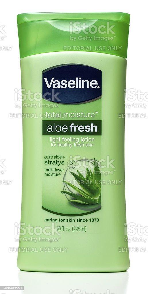 Vaseline total moisture aloe fresh skin lotion stock photo