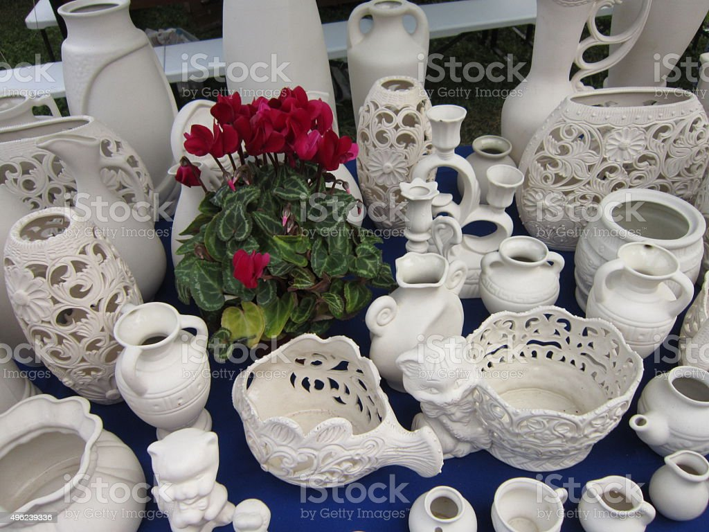 Vases and jugs stock photo