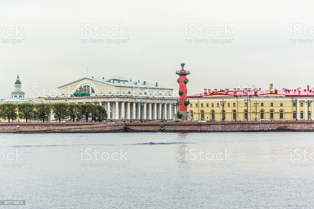 Vasilyevsky Ostrov view stock photo