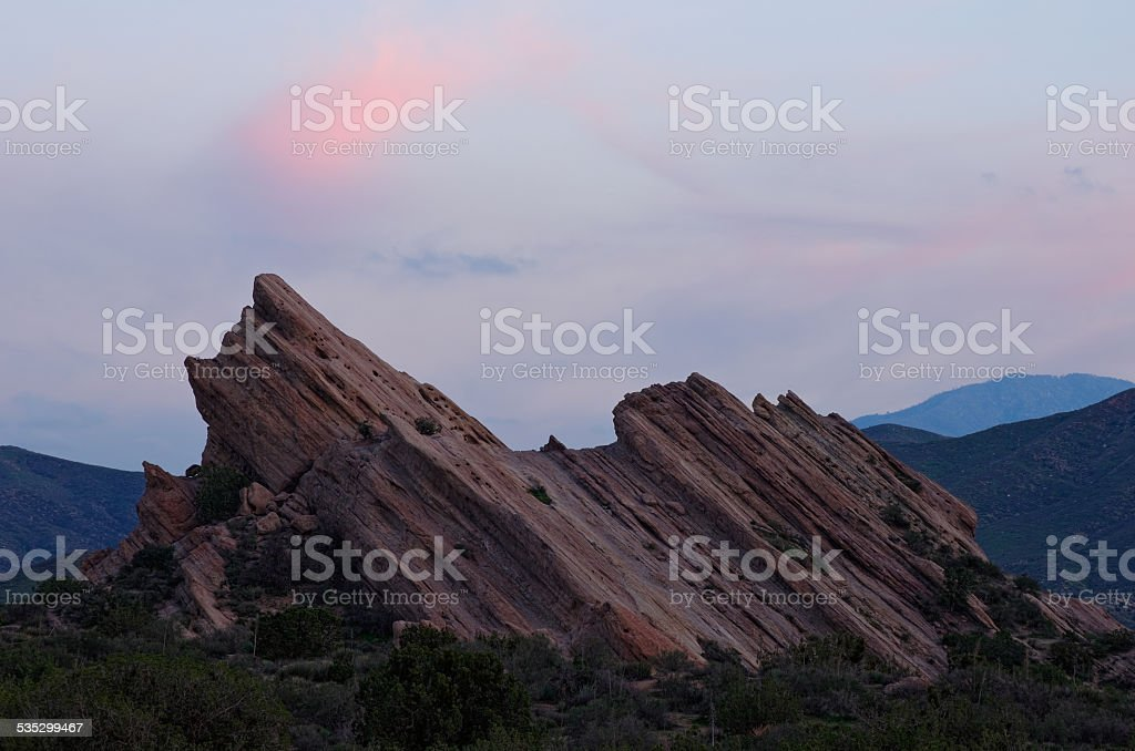 Vasquez Rocks Natural Area at Dusk stock photo