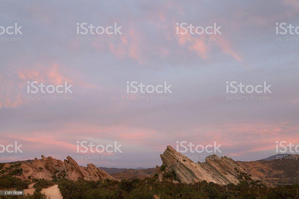 Vasquez Rocks, Pink Sunset stock photo