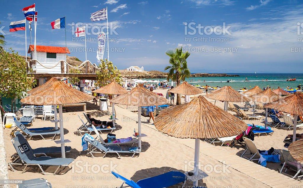 Vassilikos, Zakynthos, Greece. Beach in summer stock photo