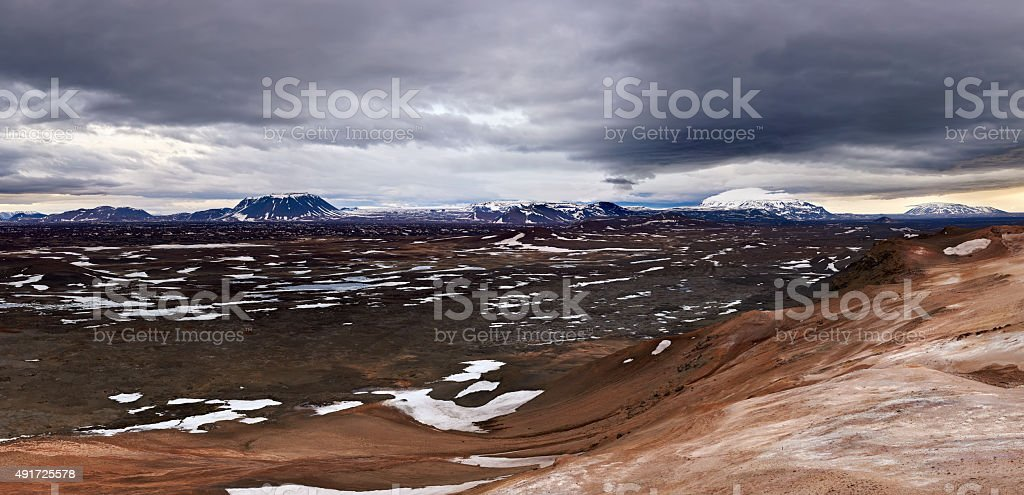 vast iceland landscape stock photo