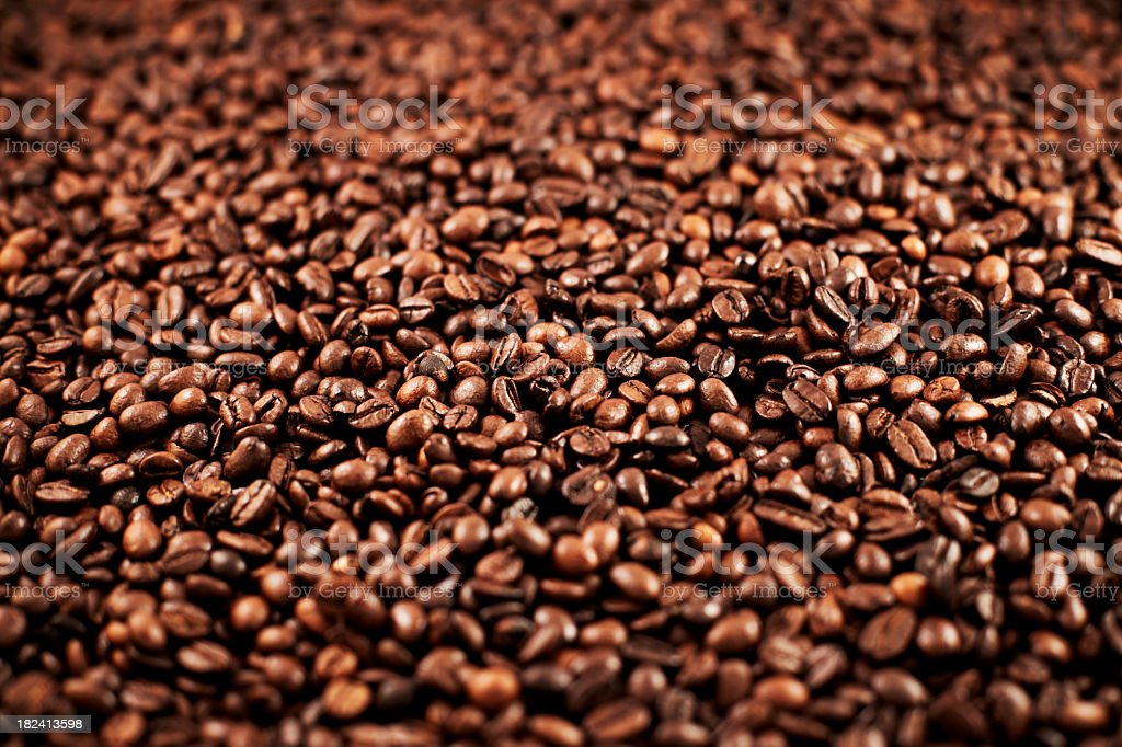 Vast quantity roasted coffee beans royalty-free stock photo