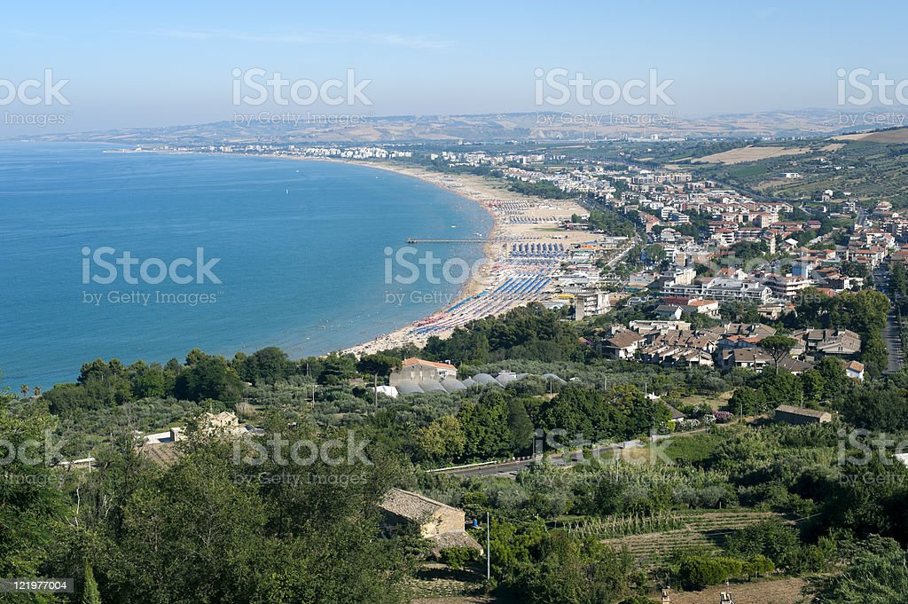 Vasto (Chieti, Abruzzi, Italy), panorama stock photo