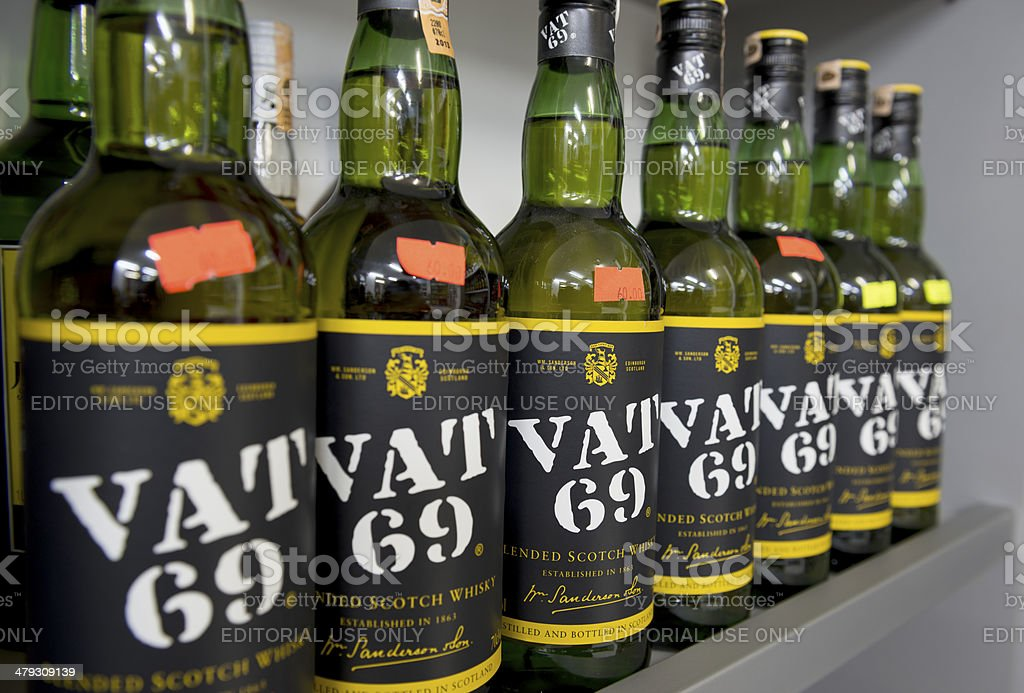 Vat 69 stock photo