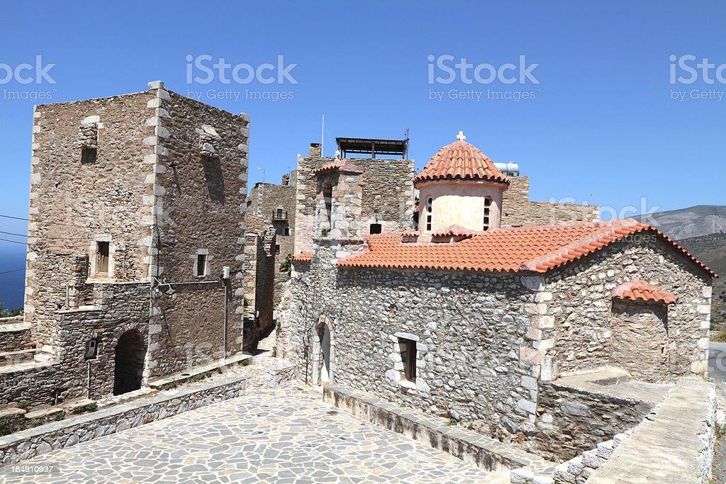 Vathia, The Mani Region, Peloponnese, Greece stock photo