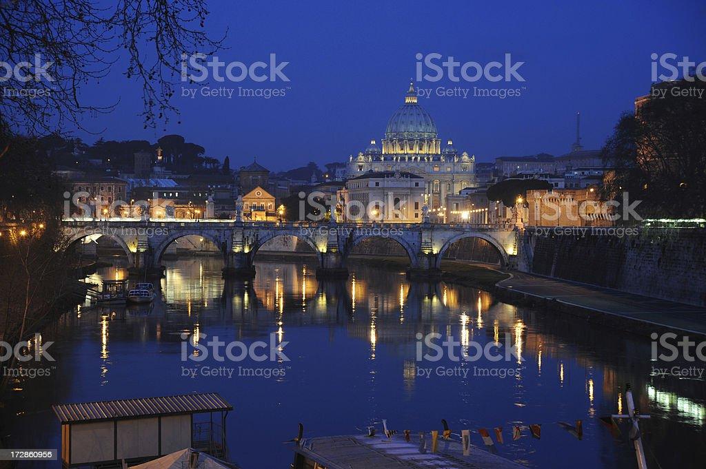 Vatican at night royalty-free stock photo