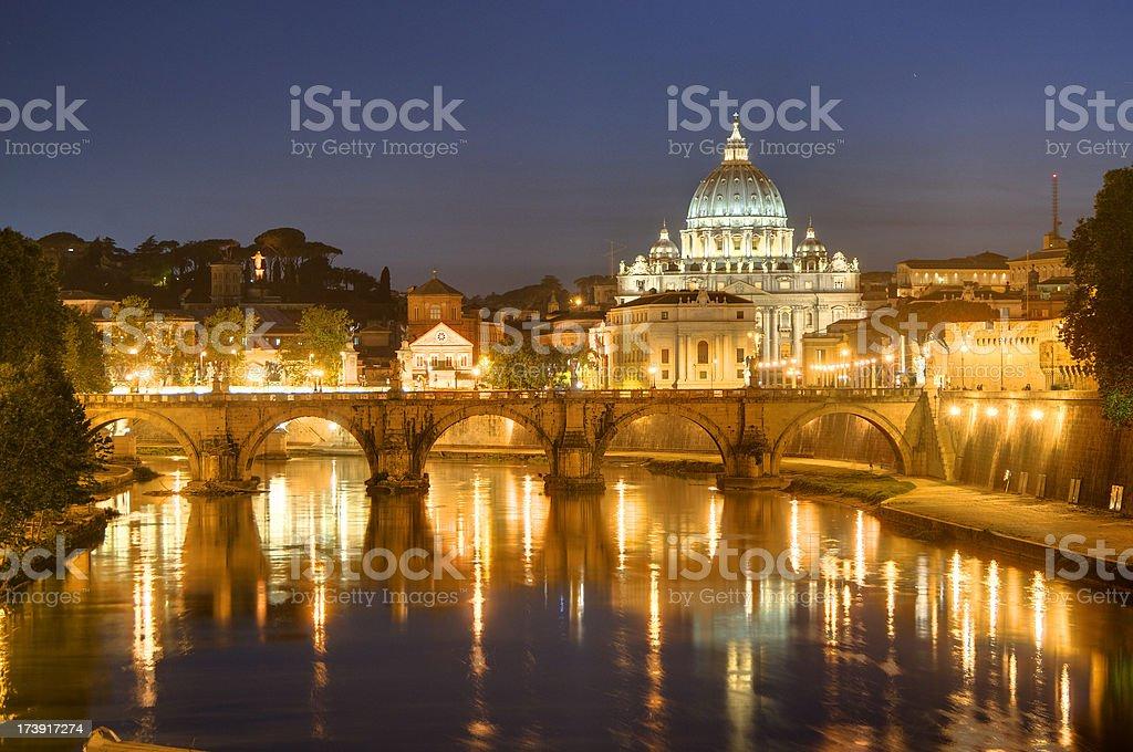 Vatican City at Night royalty-free stock photo