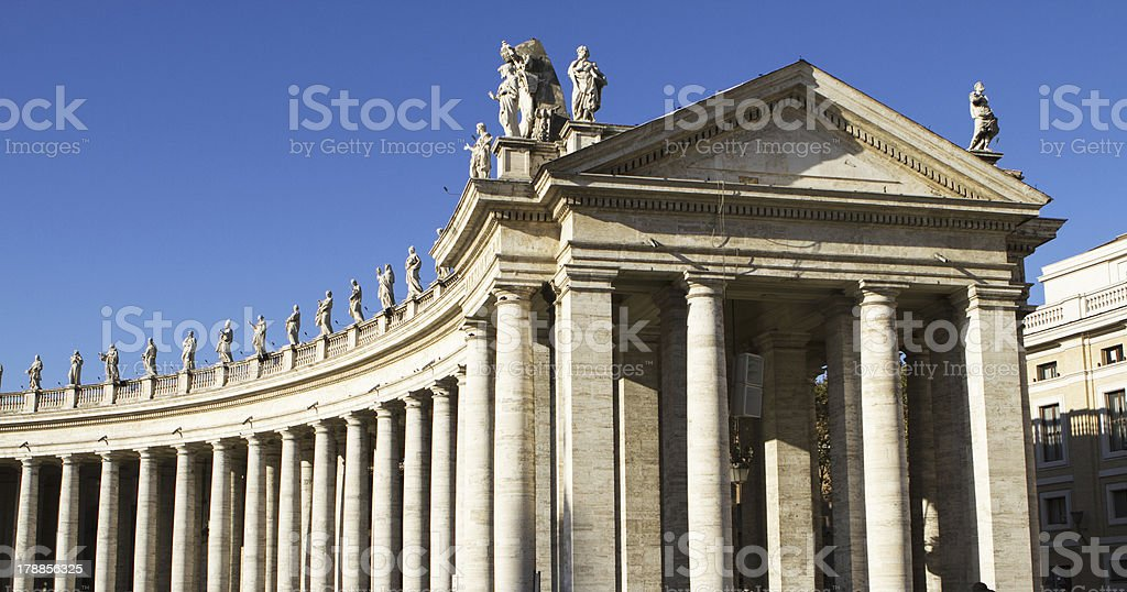 Vatican city colonnades royalty-free stock photo