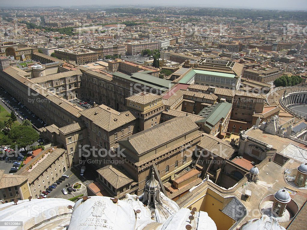 Vatican City overview stock photo