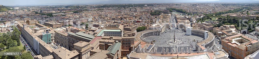 Vatican city state panorama royalty-free stock photo