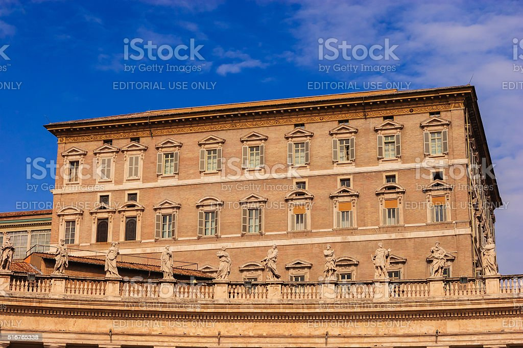 Vatican City - The Papal Apartments stock photo