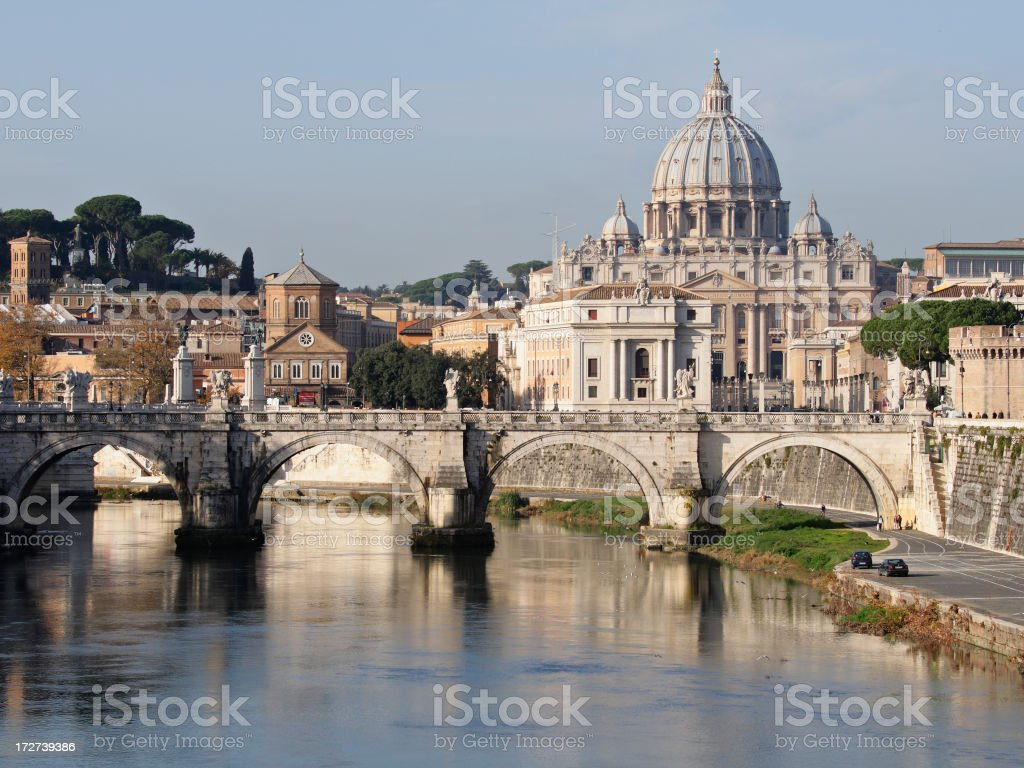 Vatican Cityscape royalty-free stock photo