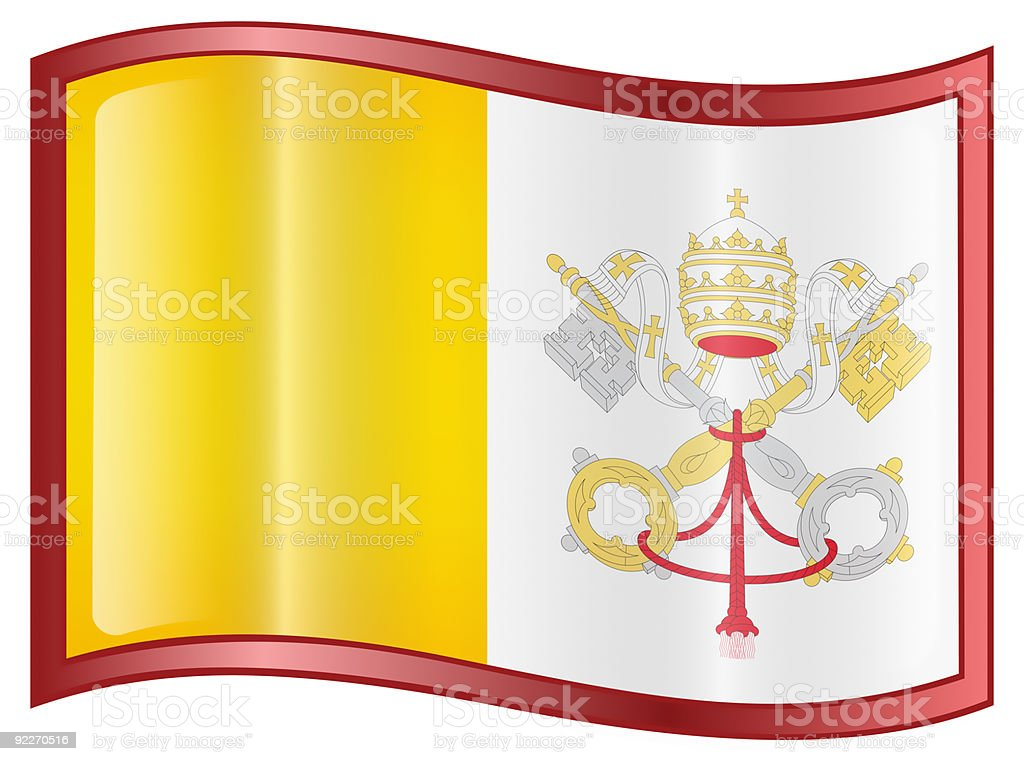 Vatican Flag icon, isolated on white background. royalty-free stock photo