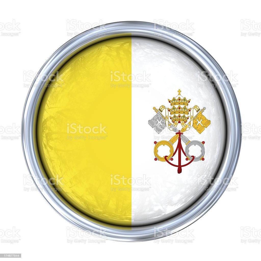 vatican flag on button royalty-free stock photo