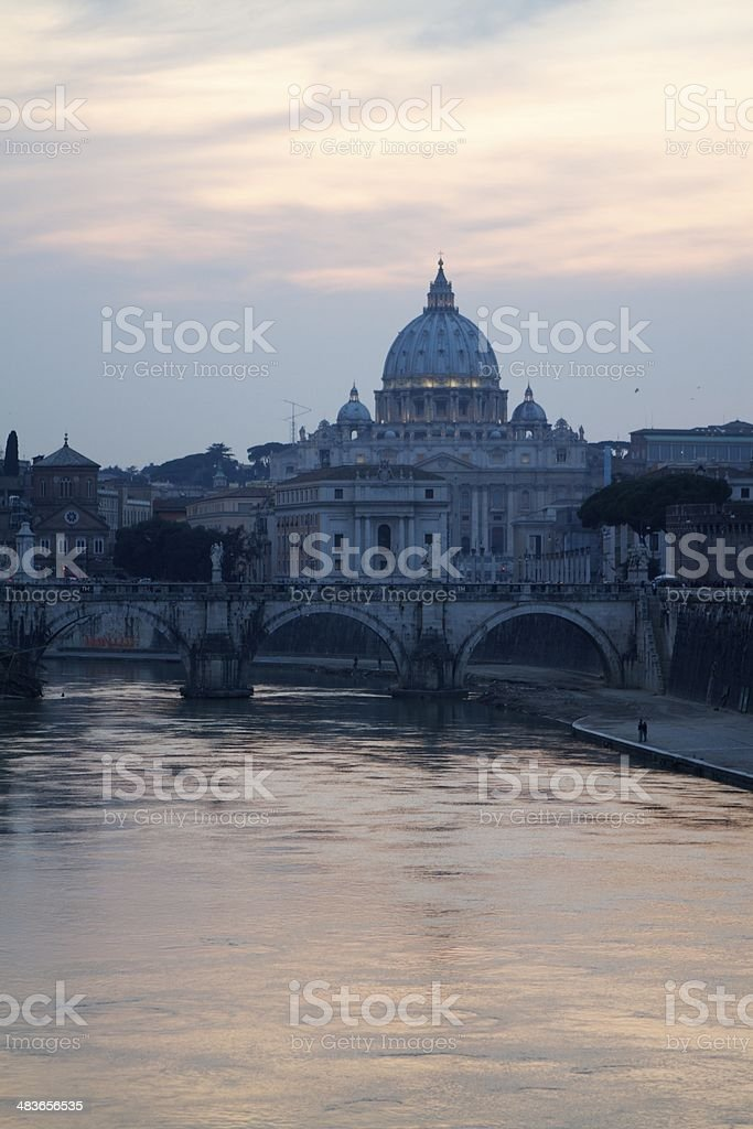 Vatican from the Tiber royalty-free stock photo