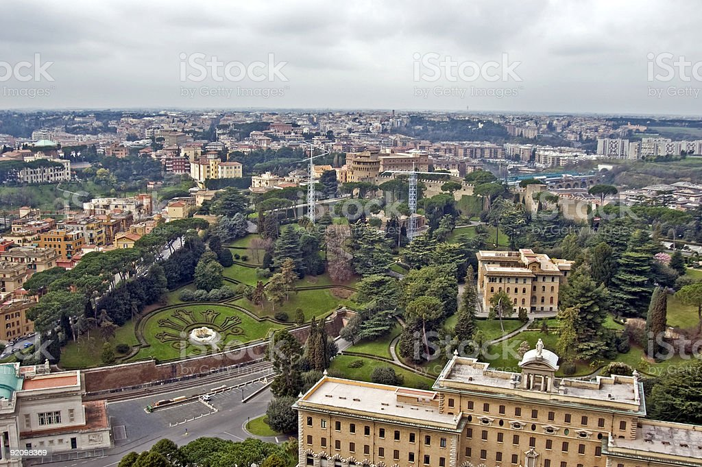 Vatican Gardens royalty-free stock photo