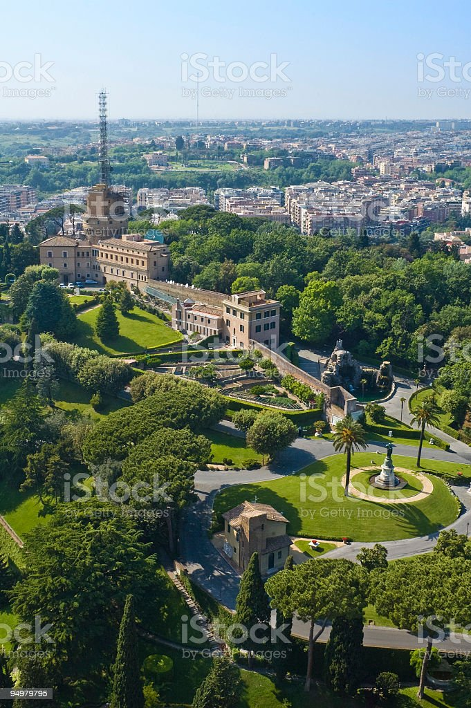 Vatican gardens, Rome royalty-free stock photo